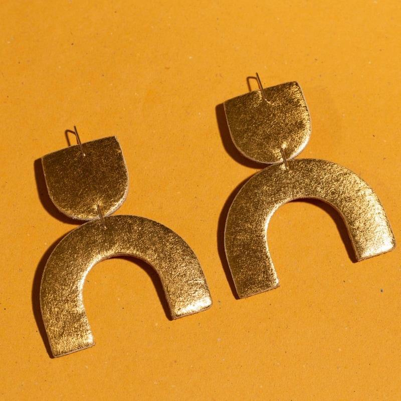Cozumel Earrings, Gold
