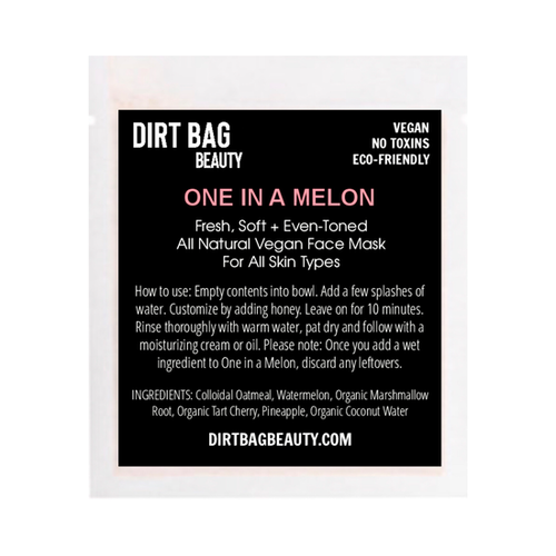 Dirt Bag Single Use Masks, One in a Melon