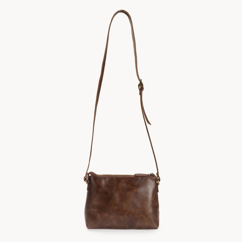 Classic Leather Crossbody, Brown