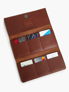 Debre Embossed Wallet, Whiskey