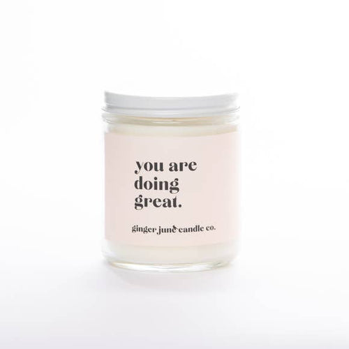You Are Doing Great, Coconut Vanilla Candle