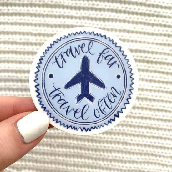 Stickers, Travel Far, Travel Often