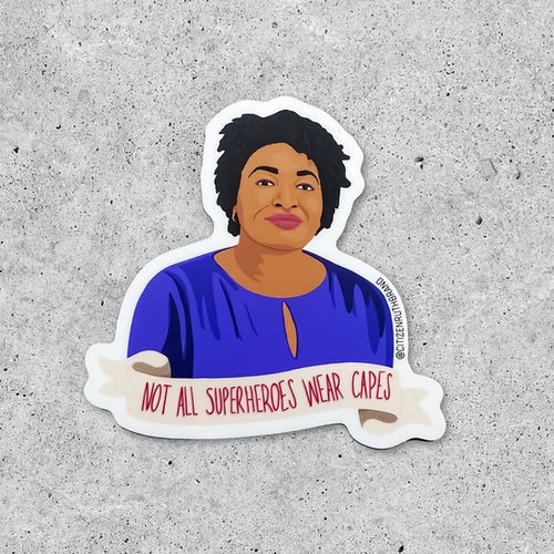 Stacey Abrams Superhero Sticker