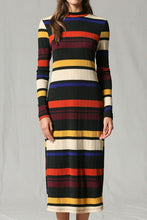 Load image into Gallery viewer, Finley Dress, Multi Stripe