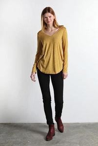 Everyday Long Sleeve Top, Mustard-Black