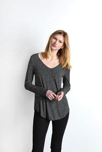 Everyday Long Sleeve Top, Black-White