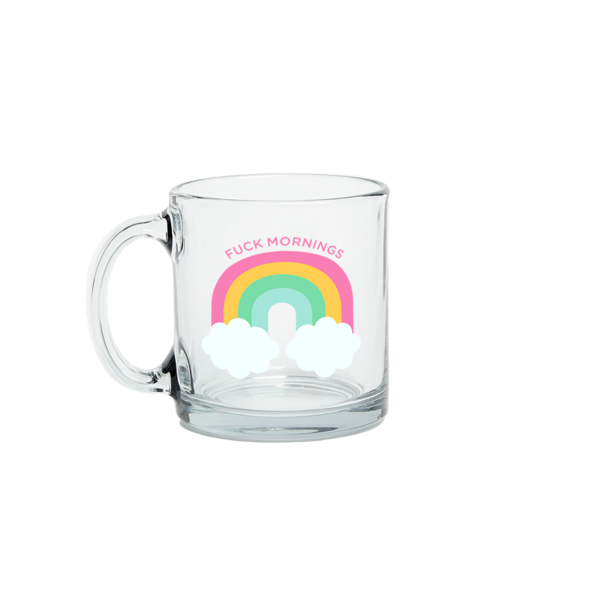 F*ck Mornings Glass Mug