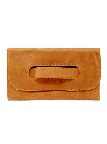Mare Handle Clutch, Cognac