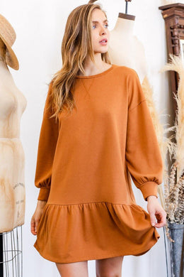 Alia Dress, Camel