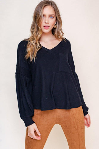 Amani Top, Black - Rose & Lee Co