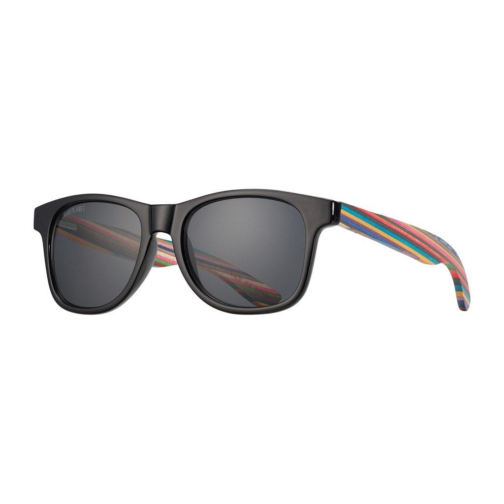 Indio Sunglasses, Onyx and Rainbow Wood
