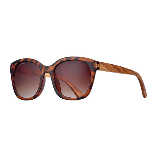 Aldin Sunglasses, Tortoise/Walnut Wood
