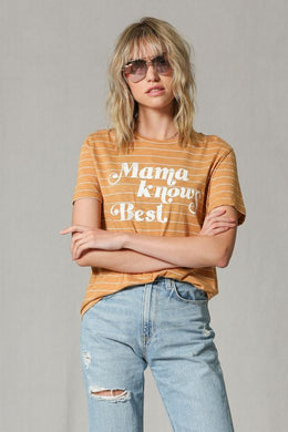 Mama Knows Best Tee, Mustard