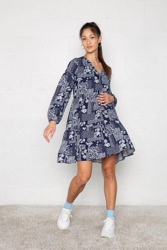 Cadi Dress, Navy