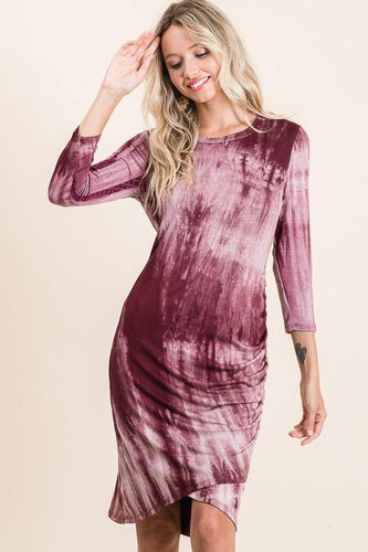 Cecelia Dress, Burgundy