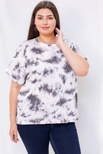 Load image into Gallery viewer, Cora Top (Curvy), White/Grey