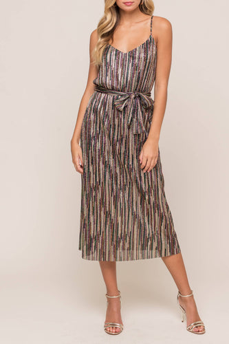 Maliah Dress, Black Multi