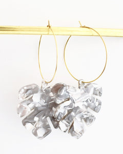 Emilia Earrings, Grey Mix