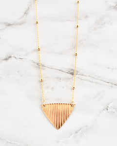Charlotte Necklace, Gold Triangle