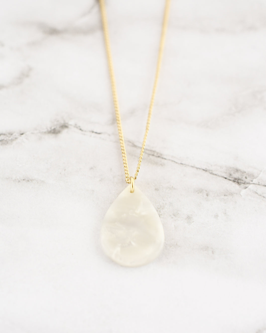 Delilah Necklace, Teardrop/Pearl
