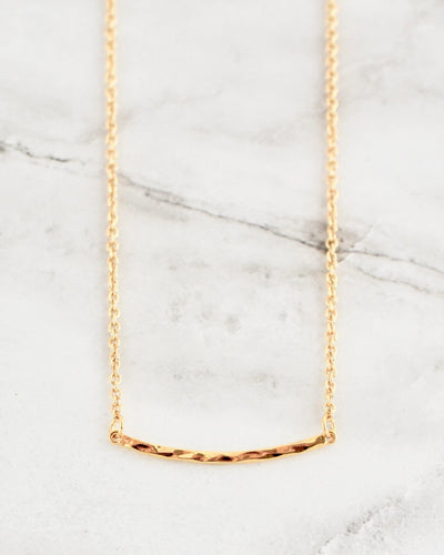 Marley Necklace, Textured Bar