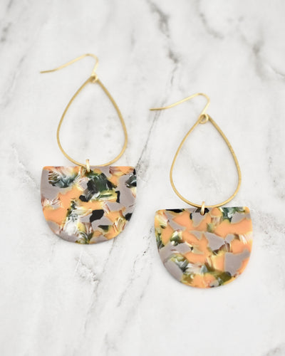 Emmy Earrings, Tangerine Multi