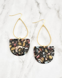Emmy Earrings, Black Multi