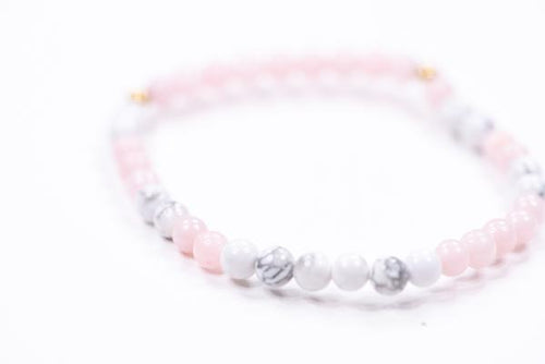 Morse Code Daughter Mini Bracelet, Pink