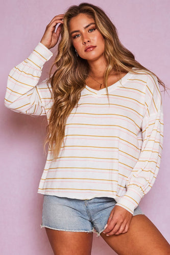 Giovanna Top, Light Pink/Mustard