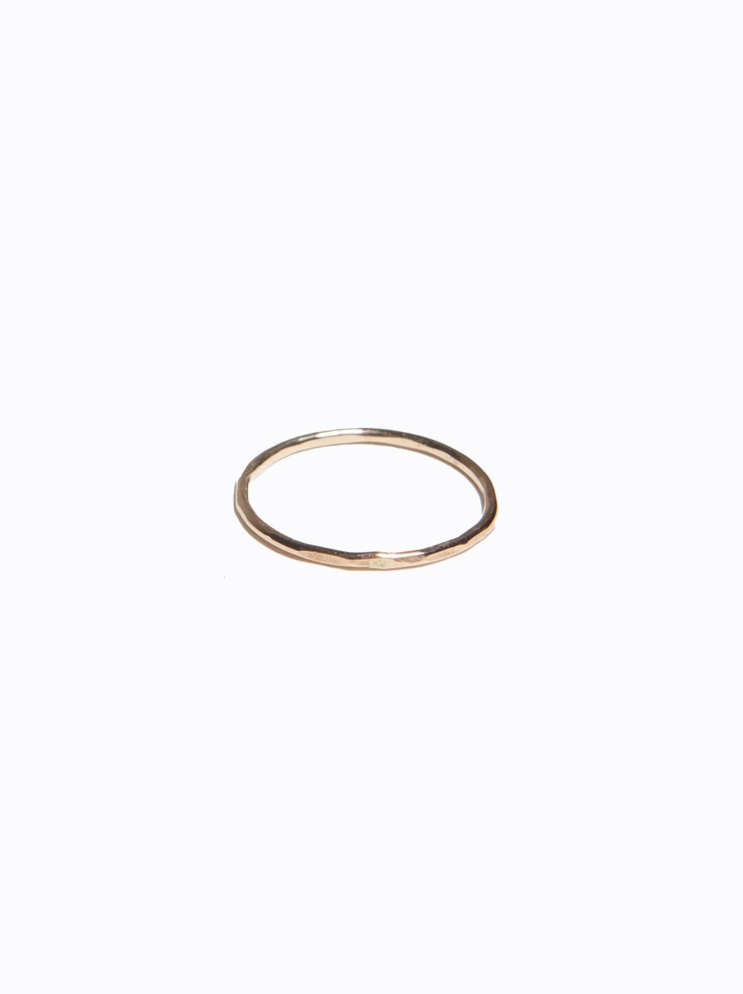 Hammered Stacking Thin Ring, Gold