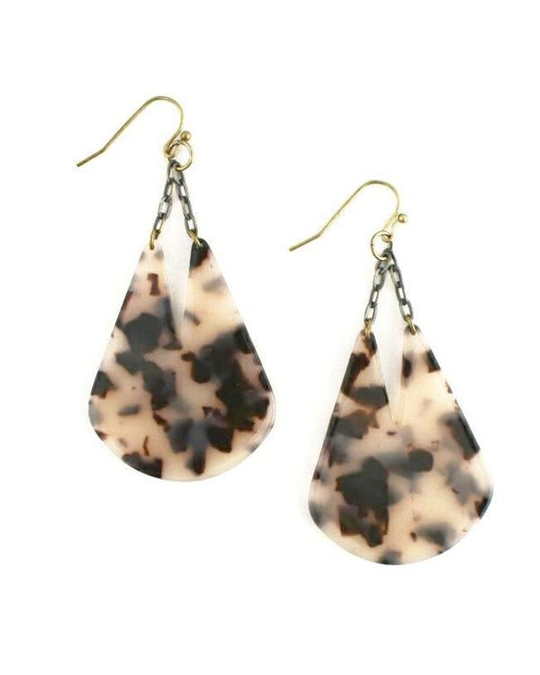Edee Earrings, Tortoise