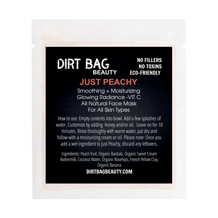 Dirt Bag Single Use Masks, Just Peachy