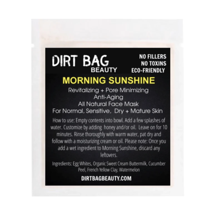 Dirt Bag Single Use Masks, Morning Sunshine