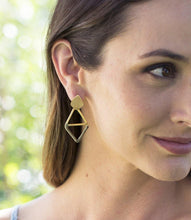 Load image into Gallery viewer, Kaia Earrings, Olive Diamond - Rose & Lee Co
