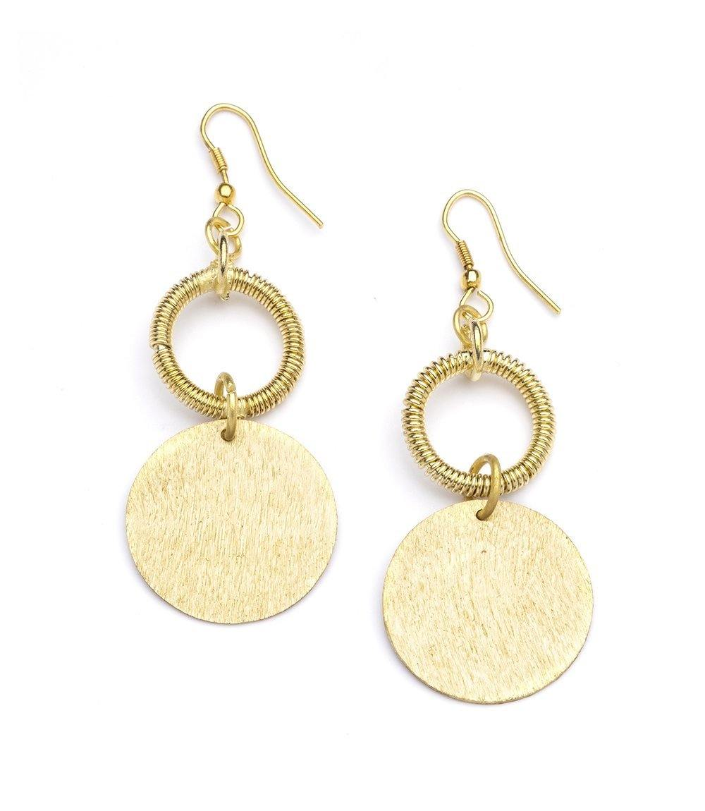 Kaia Coin Drop Earrings