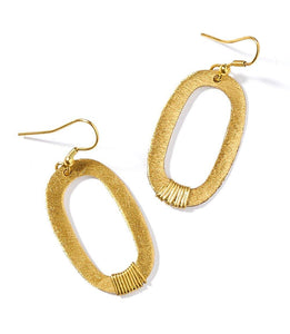 Kaia Earrings, Gold Link