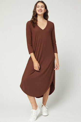 Janelle Dress, Brown
