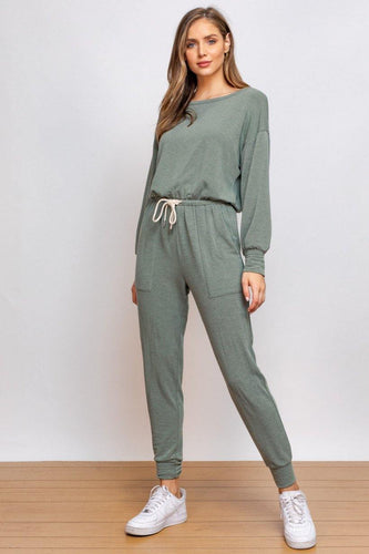 June Jumpsuit, Olive