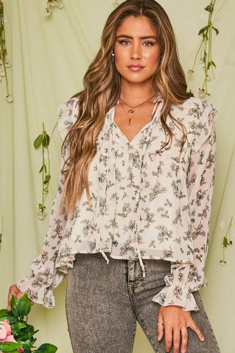 Kailyn Top, Cream - Rose & Lee Co