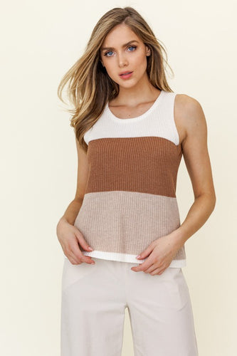 Kay Top, Ivory/Brown