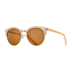 Marin Sunglasses, Beige Rose Gold and Bamboo