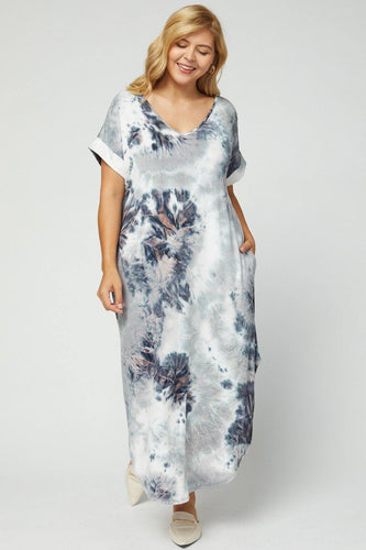 Barbara Dress, Charcoal Combo (Curvy)