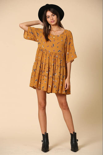 Aleena Dress, Camel