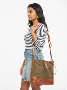 Abera Crossbody Canvas Tote