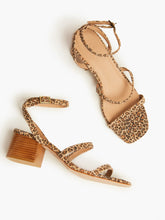 Load image into Gallery viewer, Scilia Block Heel, Leopard Suede