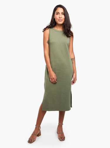 Shilpa Midi Tank Dress, Olive