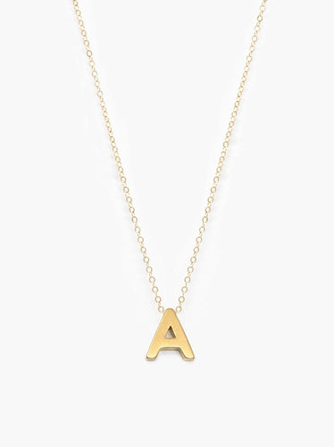 Letter Charm Necklace, Gold
