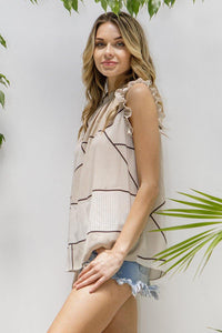 Alisha Top, Taupe - Rose & Lee Co