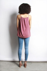 Marlow Top, Burgundy