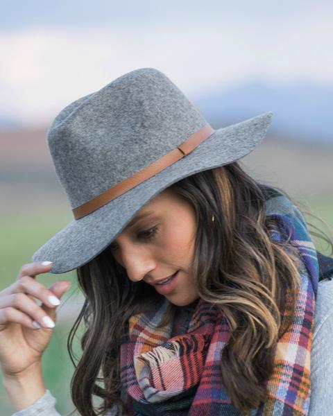 Classic Felted Wool Fedora, Charcoal